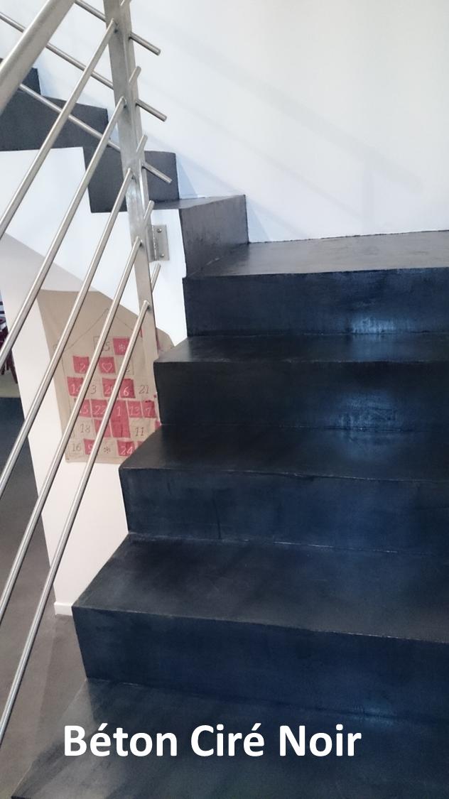 escalier beton cire escalier fer et bton cir with. Black Bedroom Furniture Sets. Home Design Ideas